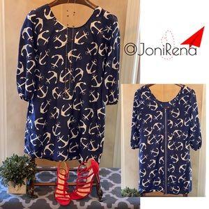💙⚓️ Navy ANCHOR Print SPRING Dress!! SIZE XL